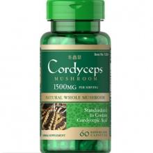 Đông trùng hạ thảo bổ thận tráng dương tăng cường sinh lực Puritan's Pride cordyceps mushroom 750mg 60v DATE T12/2020