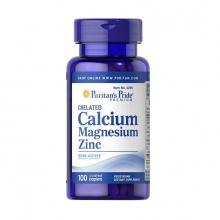 Viên uống Canci tổng hợp giúp tăng chiều cao - Chelated calcium magnesium zinc 100v của Puritan's Pride