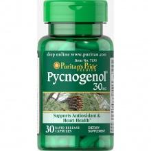 Viên uống chống lão hoá, làm đẹp da, bảo vệ hệ tim mạch - chiết xuất nhựa thông đỏ pycnogenol Puritan's Pride 30 viên