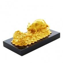 Tượng Chuột chiêu tài tấn lộc mạ vàng 24K (size lỡ)