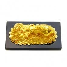 Tượng Chuột chiêu tài tấn lộc mạ vàng 24K (size lớn)