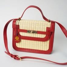 Túi cói thời trang màu đỏ NORD115