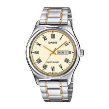Đồng hồ nam Casio MTP-V006SG-9BUDF dây kim loại - mặt màu vàng số la mã