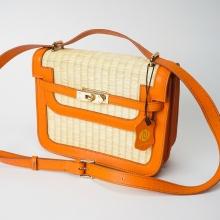 Túi cói thời trang màu cam tươi NORD115