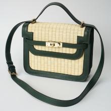 Túi cói thời trang màu xanh rêu NORD115
