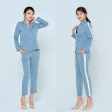 Áo blazer đũi xước xanh HeraDG - WT19131A