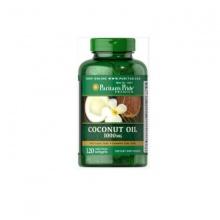 Viên uống giảm béo, đẹp da ngừa nhiễm khuẩn vùng kín Puritan's Pride Coconut oil 1000mg 120v