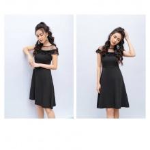 Đầm liền tuýt xi màu đen HeraDG - SDC18102