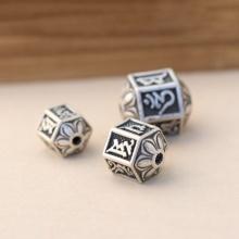 Charm bạc xỏ ngang 12.3x15.2mm - Ngọc Quý Gemstones