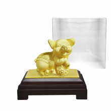 Heo vàng đại phúc phủ vàng 24K - quà tặng mỹ nghệ Kim Bảo Phúc phủ vàng 24K DOJI