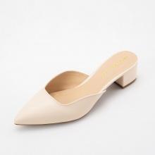 Giày nữ, giày mules cao gót Erosska thời trang thanh lịch cao 3cm - EM029 (màu nude)