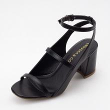 Giày nữ, giày cao gót Erosska phối dây thời trang thanh lịch cao 7cm - EB013 (đen)