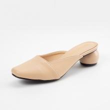 Giày nữ, giày mules cao gót Erosska thời trang thanh lịch gót tròn cao 5cm - EM028 (nude)