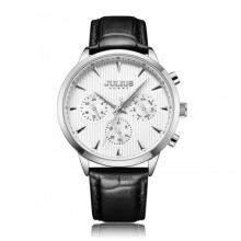 Đồng hồ nam JAH-107 Julius Homme Hàn Quốc dây da