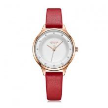 Đồng hồ nữ Julius Hàn Quốc JA-1165C dây da - đỏ