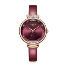 Đồng hồ nữ JA-1140D Julius Hàn Quốc dây da (đỏ)