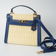 Túi cói thời trang màu xanh dương NORD116