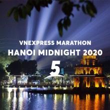 Vé Vnexpress Marathon Midinight Hà Nội 2020 - cự ly 5KM