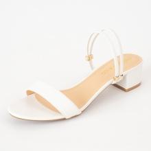 Giày nữ, giày cao gót Erosska phối dây thời trang thanh lịch cao 5cm - EM030 (trắng)