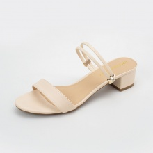 Giày nữ, giày cao gót Erosska phối dây thời trang thanh lịch cao 5cm - EM030 (nude)
