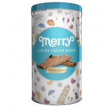 Bánh kem quế lon Merry hương socola 208g