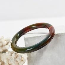 Vòng tay mã não thiên nhiên nhiều màu bản tròn - Ngọc Quý Gemstones