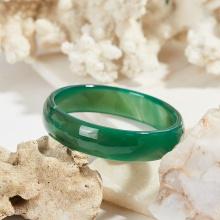 Vòng tay đá mã não xanh thiên nhiên bản hẹ mệnh mộc hỏa - Ngọc Quý Gemstones