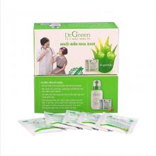 (New) 2 hộp muối biển nha đam Dr.Green 60 gói - muối rửa mũi xoang