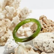 Vòng tay mã não xanh thiên nhiên bản tròn dày 10mm mệnh mộc hỏa - Ngọc Quý Gemstones
