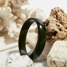 Vòng tay mã não thiên nhiên xanh rêu bản hẹ mệnh mộc hỏa - Ngọc Quý Gemstones