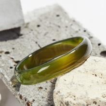 Vòng tay mã não xanh rêu bản hẹ Ni 65 mệnh mộc hỏa - Ngọc Quý Gemstones