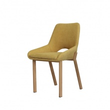 Ghế bọc vải chân kim loại giả gỗ Furnist Cresent