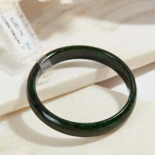 Vòng tay đá cẩm thạch sơn thủy bản hẹ mỏng 10mm mệnh mộc hỏa - Ngọc Quý Gemstones