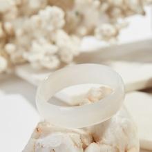 Vòng tay đá mã não trắng bản hẹ mệnh kim thủy - Ngọc Quý Gemstones