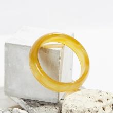 Vòng tay đá mã não vàng bản hẹ Ni 62 mệnh kim thủy - Ngọc Quý Gemstones