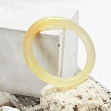 Vòng tay đá mã não thiên nhiên vàng bản tròn mệnh kim thủy - Ngọc Quý Gemstones