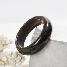 Vòng tay đá thạch anh mắt hổ xanh đen bản hẹ ni 61 mệnh thủy mộc - Ngọc Quý Gemstones