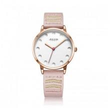 Đồng hồ nữ Julius Hàn Quốc dây da JA-1021D (hồng)