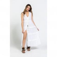 Đầm maxi trắng Savage Culture SC36612-WH