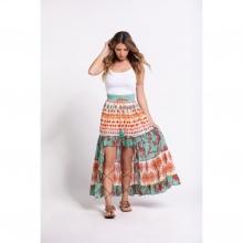 Váy họa tiết thổ cẩm Harmonya Culture SC36707F-PR