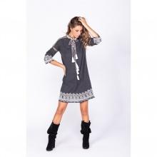 Đầm suông thêu họa tiết Savage Culture SC35521-GY
