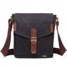 Túi nam đeo chéo vải bố thời trang 4U V287 - đen