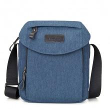 Túi đeo chéo vải bố thời trang 4U V309 - xanh dương