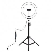 Bộ đèn LED trợ sáng điện thoại khi chụp hình, livestream Aturos Puluz PKT3035 (gồm tripod và bộ đèn LED)
