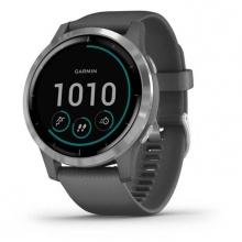 Đồng hồ thông minh Vivoactive 4, GPS, Wi-Fi, Shadow Gray - Silver, SEA