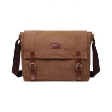 Túi vải bố nam thời trang 4U V286 - nâu