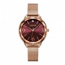 Đồng hồ nữ JuliusJA-1210Bdây thép không gỉ Hàn Quốc chính hãng