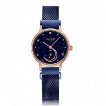 Đồng hồ nữ dây nam châm chính hãng Julius Star Hàn Quốc JS-038B xanh