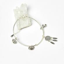Lắc bạc charm hoa sen - Ngọc Quý Gemstones