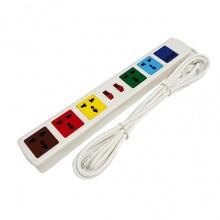 Ổ cắm đa năng Lioa có cổng sạc USB trắng - 6D32WNUSB